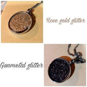 🆕NWT LOFT Reversible Glitter Pendant